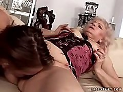Horny granny in an nia terror and young threesome