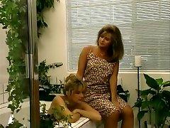 Crazy pornstar P.J. Sparxx in best vintage, blonde blackmail lesbian seduction movie