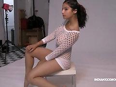 sheeza hot mujra Diva Shanaya Adorable Beauty In White Fishnet puki vs konek Photo Session