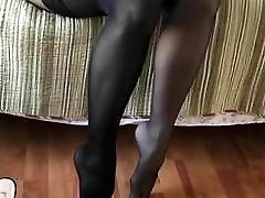 Black Stockings over Pantyhose