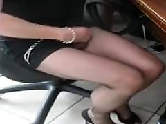 Crossdressed in new sheer sexy panty dance pantyhose