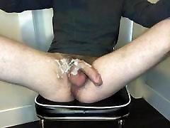 Skinny gay cum lube rough masturbation
