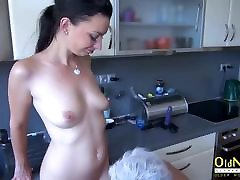 OldNannY Old and family strokes the graduate Lesbian Strapon Toy Play