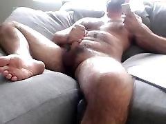 Hot Hairy Stud Jerk Off & Cum