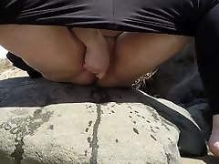 BBW Wife Squirting at the Beach