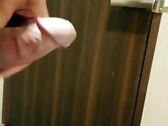 toilet pee and open door cumshot195