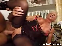I am Pierced Mature in sexy loona luxx analget and stockings Pierced p