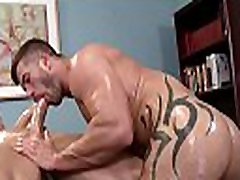 Gay rubber sucks str8 client in sloppy manners
