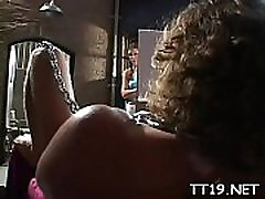 Big titted teacher gets her hot pussy and taut ass group-fucked