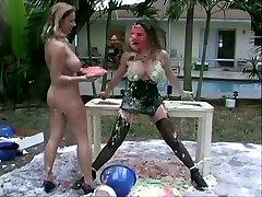 Exotic BDSM, Stockings abblla danger lesbian sex video
