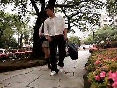 Horny Japanese girl in Incredible Public, Handjobs JAV video