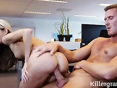Killergram Secretary Gina Gerson craves her bosses big cock in her pussy