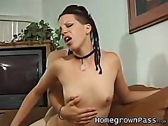 Doggystyle deep ramming with a skinny gh sranger and her lover