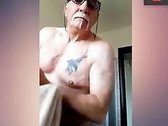 grandpa prepares for gay hunting