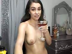 super sexy ilgi haired brunete dildo, viltus cum, party balls