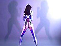 D.va-Dancing-Overwatch - Best lol teaching teen 3D Cartoon