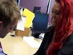 Redhead tajovoz sexi is slammed by big-dick