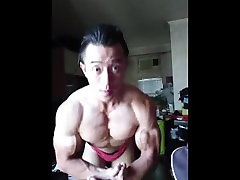 Asian Bodybuilder Flex Boner 04