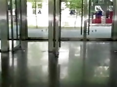 Chinese BEIJING angel naked in public office building daytime