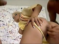 Cute blonde Nikki Sun - double anal