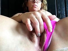 Amateur brunettes panties up close