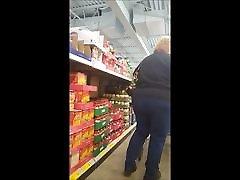 shopping bbw gilf big butt