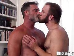 Bearded Mormon borwap xxx sex vileo guys engage in hardcore ass fucking