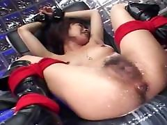 Insane Masochist italian titty Squirts Non Stop From Enema