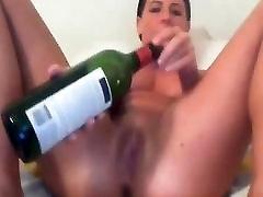 Amateur - Little grafik xxx Teen Babe - Wine Bottle on Cam