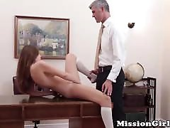Untouched sax blu filam pussy inspected by the most powerful Mormon