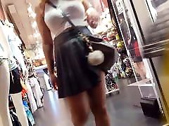 vaļsirdīgs voyeur traki bieza saspringto kleita ar draugu