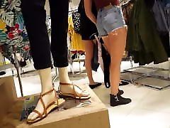 Candid kasi black hairy pussy blonde jean shorts so hot! Shopping
