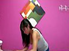 Curvy asian masseuse has peculiar touch in her hands