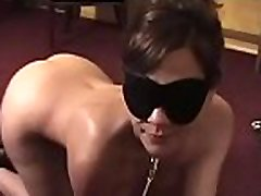 Sweetheart gets bounded and blindfolded for a juli an grub session