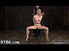 Intensive caning with painful torture for tattooed slave