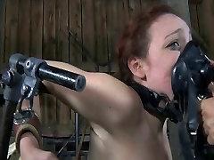 BDSM sara choi pink dildo Mia Electro and Torments
