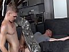 Young homo gives handsome hunk a lusty a-hole licking session