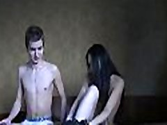 Sexy teen gets buck naked and gives a sizzling sexy oral-sex