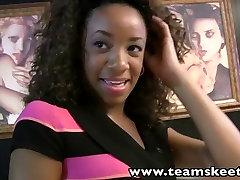 TeenyBlack Young ebony Michelle Brown hardcore sex orgasm