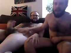 Couple of sanjay take newss wanking and eating cum