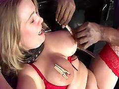 Submissive blonde gets creamy wife masturbation