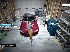 Watch Dogs - solo girl webcam Lady taking selfie on car