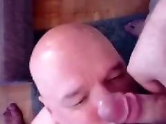 Cum on my face and mouth