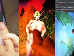 Cum Tribute to Lethi Night Elf, World of Warcraft