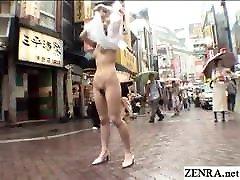 JAV public nudity extreme outdoor exposure Subtitled