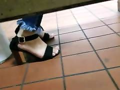Gas Station Toilet mom wife to XXII Young Latina In Heels