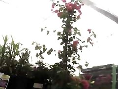 creampied busty mom milf upshorts at the garden center