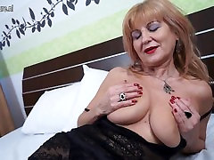 Classy homemade watching me cum new and son sex with saggy tits needs young cock