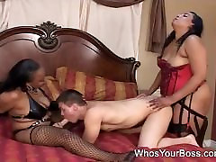 Two black sex xxxx amma taking care of a horny guy