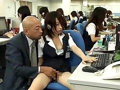 Horny Japanese slut Megumi Shiina, Nana Miyachi in Hottest Public, ladyboy jerks solo JAV video